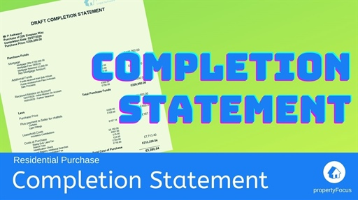 Completion Statement